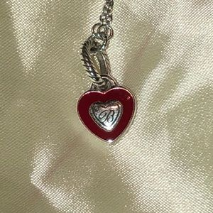 Brighton reversible heart necklace silver chain
